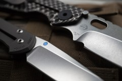 Chris Reeve Knives Small Sebenza 21 stonewash vs SNG