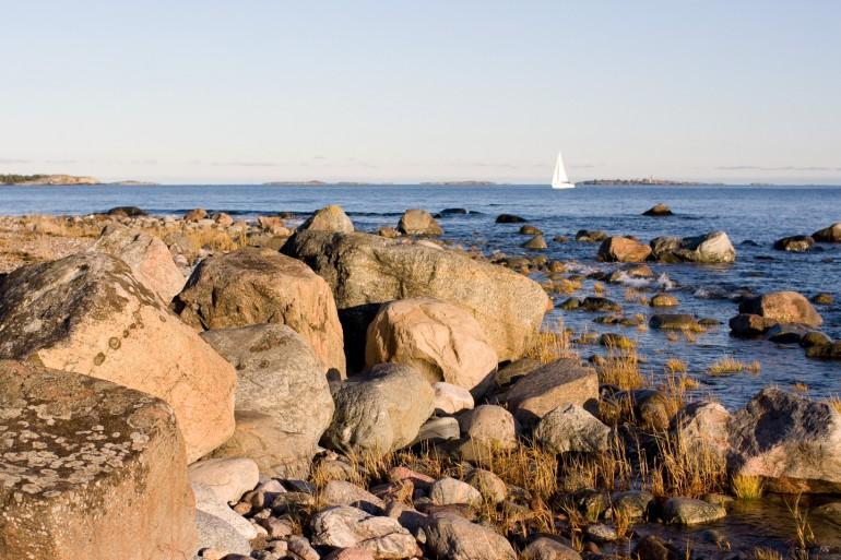Rocky shoreline at Sandhamn