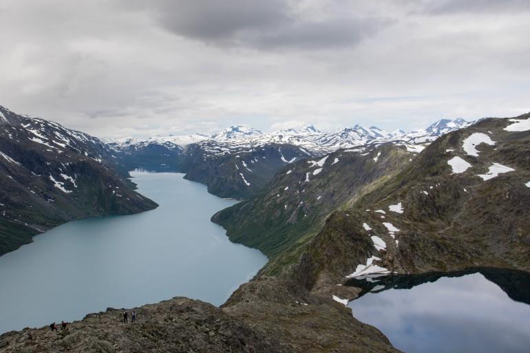 Lake Gjende and Bessvatn from Besseggen