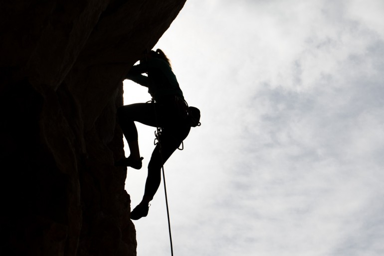 Climbing at Es Verger, Mallorca