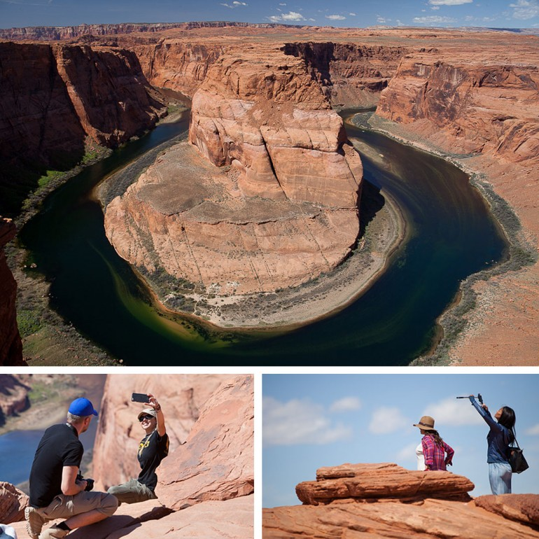 Horseshoe bend Arizona collage
