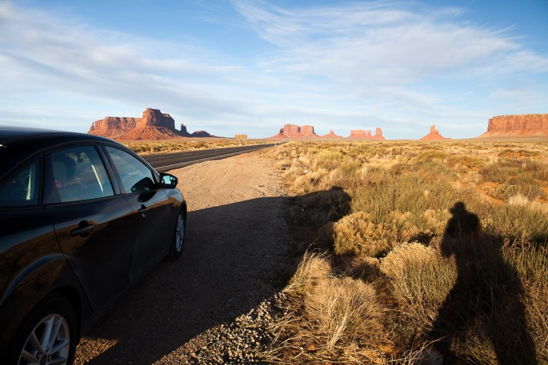 Ford Focus and the Monument Valley
