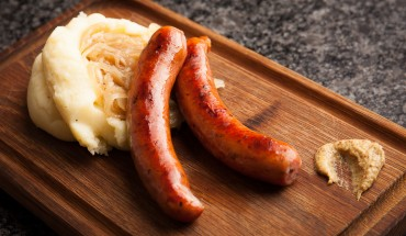 Sausage and mashed potatoes