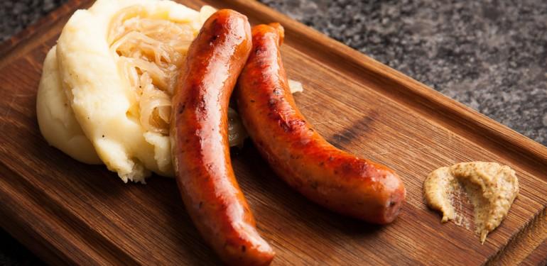 Sausage and mashed potatoes