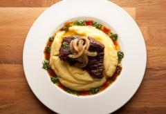 48 hour Chuck Eye Steak with Potato Puree and Chimichurri