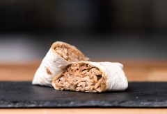 Pulled pork and apple chutney wrap