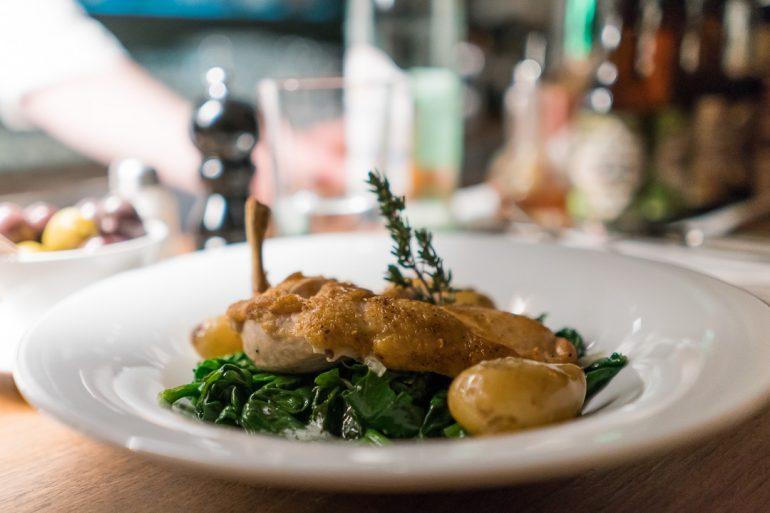 Chicken at Schumann's Bar