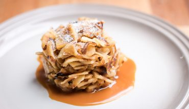 Refried Swedish Pancakes with Salted Caramel Sauce