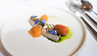Mackerell with poached tomato at Palace Grill
