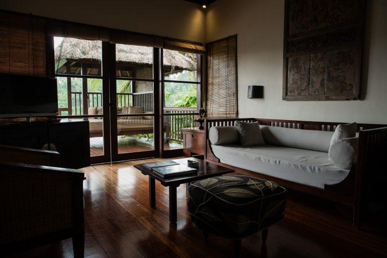 Living room at Hanging Gardens Bali