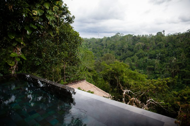 Private suite pool at Hanging Gardens Bali